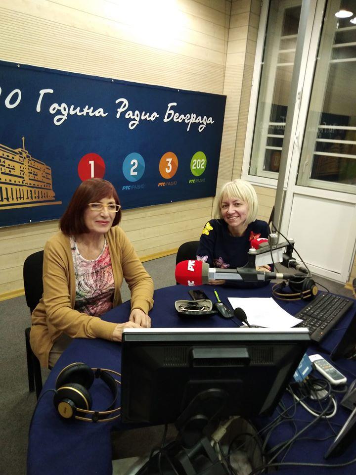 u Radio Beogradu, emisija Veceras zajedno
